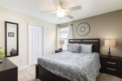 Retire after a long day in this comfortable bedroom