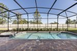 Take advantage of the peaceful and private pool & spillover spa