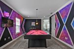 Head to the upstairs loft games room