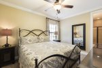 This bedroom located on the second floor featuring a King bed and private bathroom