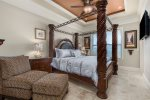 Ground floor master bedroom with a king bed.