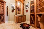 Wine cellar with plenty of room for all your favorite wines.