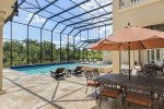 The fully screened in pool deck and balconies help prevent debris and pests.