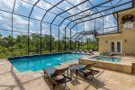 Dine al fresco on this huge pool deck
