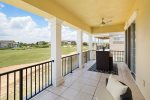 The rear balcony area has breathtaking views and seating are for you to enjoy