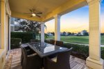 Enjoy the beautiful sunset with golf course view in the balcony