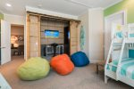 The little ones will have fun in the cabana with their own 50-inch SMART TV, Xbox 360, and karaoke machine