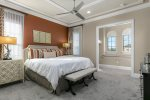 Master suite with a king size bed and en-suite bathroom located on the second floor