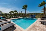 Soak up the sun in the west-facing private pool