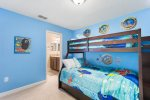 The kids will love the bedroom with special touches throughout.