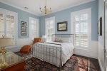 The master suite 6 features a Cape Cod theme