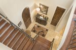 The beautiful foyer welcomes you into the rest of this elegant home
