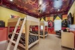 Kids will love this incredible second floor bedroom designed just for them to have a super time