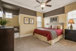 The master suite 5 is located on the second floor with a king bed and 32-inch TV