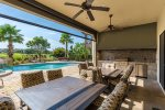 You can enjoy the beauty of Florida from the covered lanai