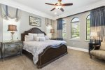 Sleep comfortably in this downstairs king bedroom