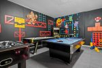 Get ready to play when you enter the game room