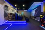 The movie/game room is ideal for your entertainment needs