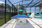 Challenge a family member or friend to a game of ping pong by the pool