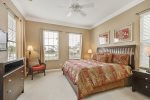This master suite is located on the ground floor