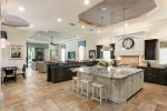 Everyone can be together in this open kitchen and dining area