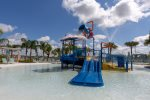 The kids will enjoy their own water area with pool and splash pad