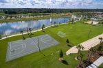 Soccer field, basketball court, and sand volleyball