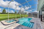 Your own private pool with spillover spa