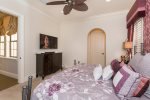 The master suite features a king size bed, en-suite bathroom, and SMART TV