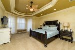 Take a much needed break in this comfortable master bedroom