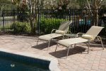Relax by the poolside and enjoy the warmth from the Florida sun