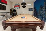Challenge each other to a variety of games, including pool and darts