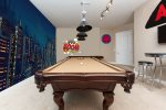 Enjoy the theming of this game room with your favorites