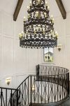The centerpiece of Reunion Castle is this gorgeous custom chandelier