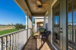 Master suite balcony area with golf course views