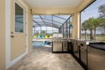 Extended pool deck with plenty of room for relaxing or poolside activities