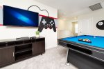 The loft has a TV that comes with a PS4 gaming system