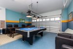 Get your game on in the game room with different games, such as Foosball