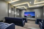 Cap the evening with a film in the private theater with surround sound and a fully stocked snack bar