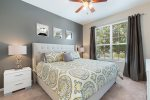 Beautiful second master suite located on the ground floor with a king bed