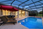 Enjoy the pool in the evenings