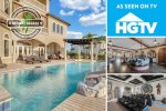As Seen On HGTV - Theme Queen | Be Our Guest Castle | 10,500 Sq. Ft., 12 Bed Luxury Villa with Custom Pool, Theater Room, Games Room