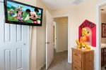 The kids bedroom has an en-suite bathroom and 32-inch TV