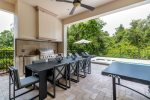 Fully equipped summer kitchen for outdoor meals