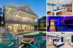 Secluded Reunion Villa | 4,514 sq. ft. Villa, Furnished Oct, 2018 with Theater, Games & Arcade Rooms, Large Pool, Summer Kitchen & Fire Pit