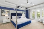 This beautiful Master Suite features a King Sized bed
