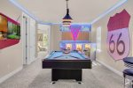 Head upstairs to the fun loft game room