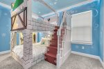 Little ones will feel like they`re in their favorite movie in this custom bedroom