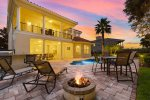 Hang out by the fire and enjoy a beautiful Florida evening