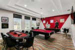 Play a round of pool or poker in the upstairs game lounge